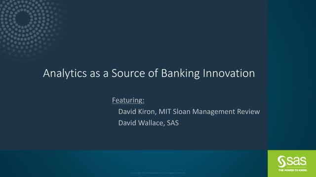 Analytics as a Source of Banking Innovation