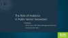 The Role of Analytics in Public Sector Innovation