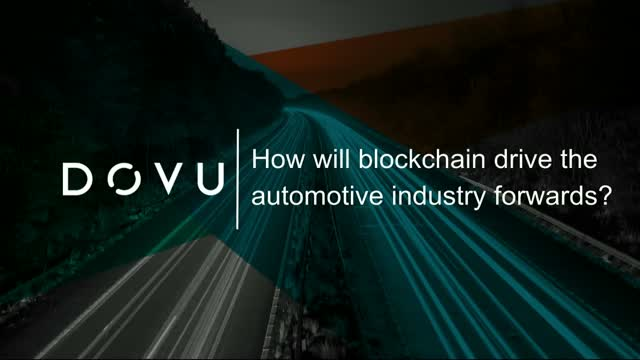 How blockchain will drive the automotive sector forwards