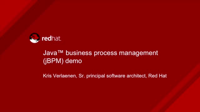 Java Business Process Management (jBPM) Demo