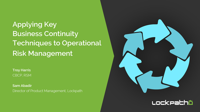 Applying Key Business Continuity Techniques to Operational Risk Management