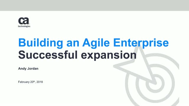 Building an Agile Enterprise