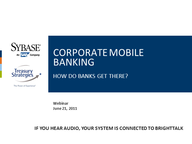 Corporate Mobile Banking – How do Banks get there?