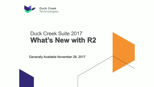 Introducing Duck Creek Suite 2017R2