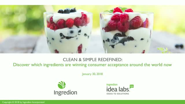 CLEAN & SIMPLE REDEFINED: The most accepted ingredients around the world now
