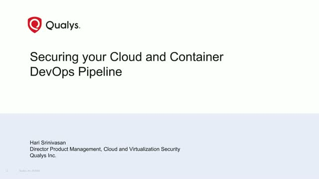 Securing the Container and Cloud DevOps Pipeline