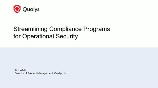 Streamlining Compliance Programs for Operational Security