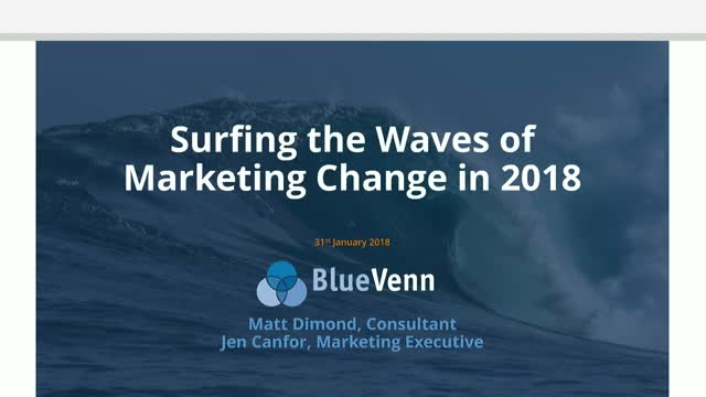 Surfing the Waves of Marketing Change in 2018
