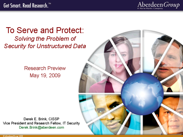 To Serve or Protect? Addressing Security for Unstructured Data