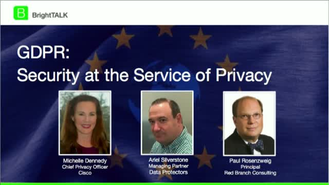 GDPR - Security at the Service of Privacy