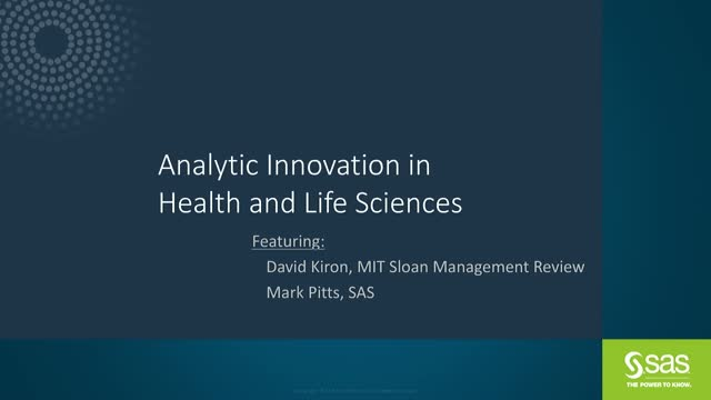 Analytics and Innovation in Health Care