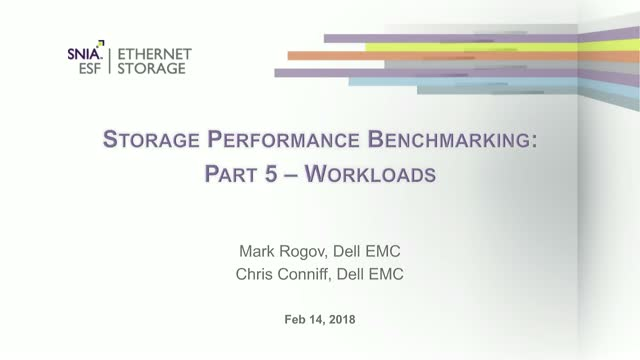 Storage Performance Benchmarking: Workloads