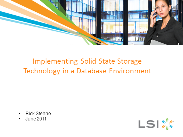 Implementing Solid-State Tech Solutions in a Database Environment