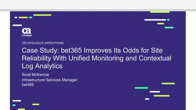 bet365 Improves Its Odds for Site Reliability With Unified Monitoring