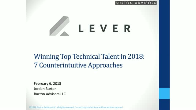 How to Win Your Unfair Share of Technical Talent