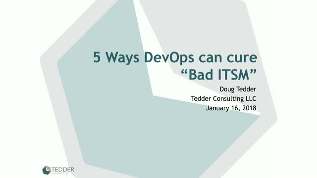 "5 Ways DevOps can cure ""Bad ITSM"""