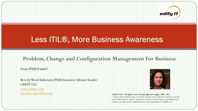 Less ITIL, More Business Awareness