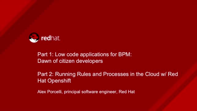 Low Code Applications for BPM: Dawn of Citizen Developers
