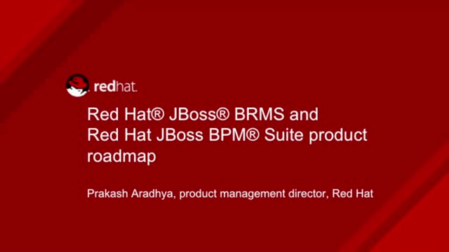 Red Hat JBoss BRMS and Red Hat JBoss BPM Suite product roadmap