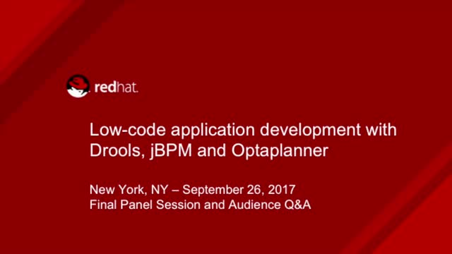 Low-code Application Development with Drools, jBPM and Optaplanner