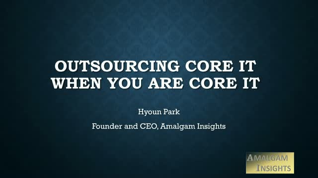 Outsourcing Core IT When You Are Core IT