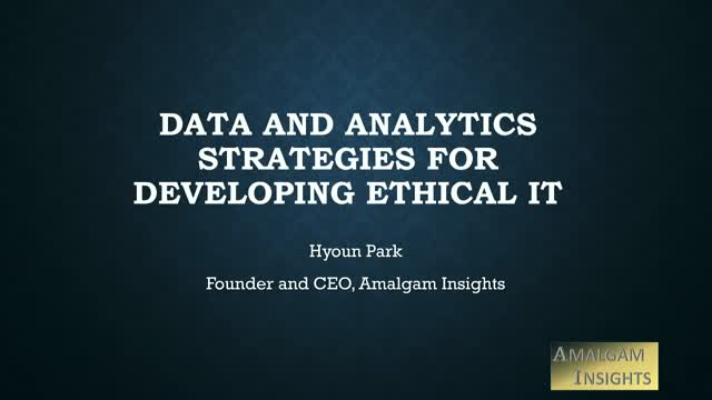 Data and Analytic Strategies for Developing Ethical IT