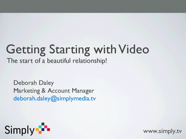 Getting Started with Online Video