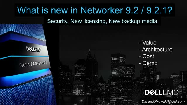 Co nowego w NetWorker 9.2.1?