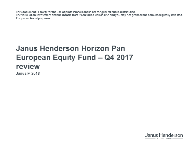 Janus Henderson Horizon Pan European Equity Fund Update