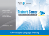 Trainer's Corner #6: Proving the value of language learning to leadership