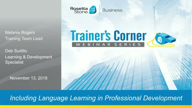 Including Language Learning in your Professional Development Paths
