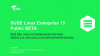 SUSE Linux Enterprise 15 in Public Beta