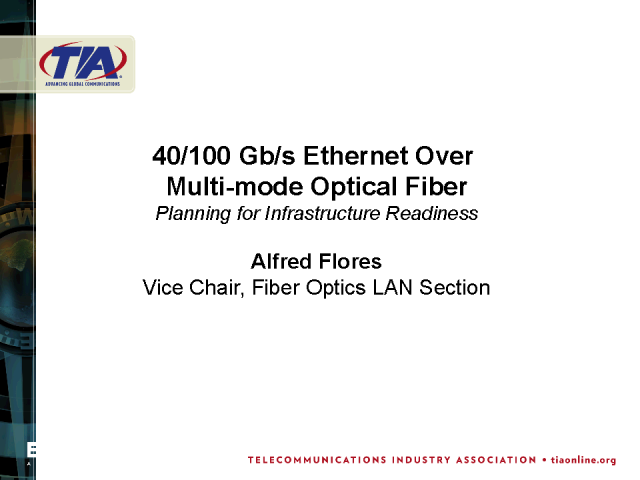 40/100 Gb/s Ethernet over Multimode Fiber