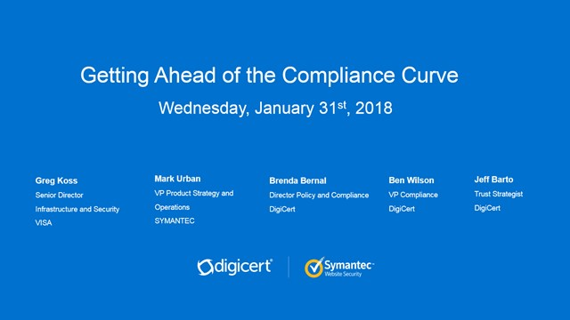 Getting Ahead of the Compliance Curve