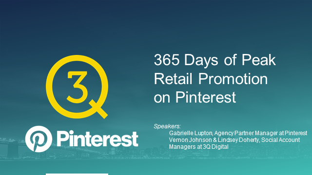 365 Days of Peak Retail Promotion on Pinterest