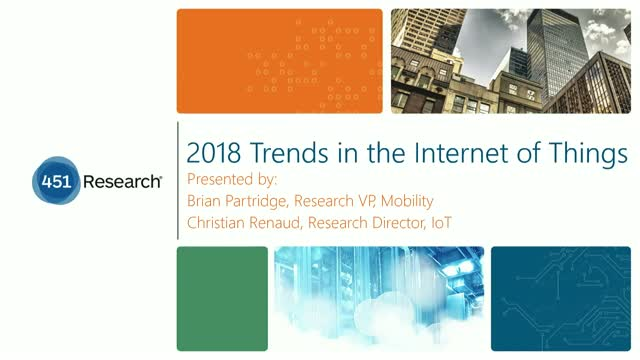2018 Trends in the Internet of Things