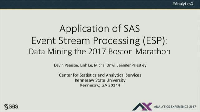Application of Event Stream Processing: Data Mining the 2017 Boston Marathon
