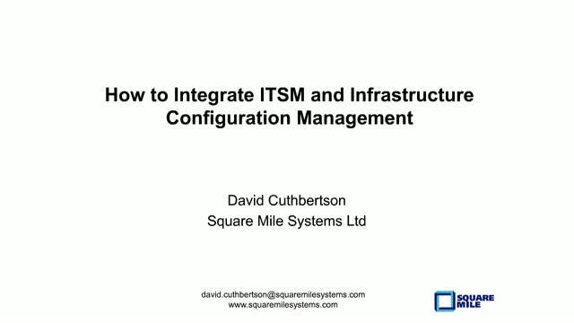 How to Integrate ITSM and Infrastructure Configuration Management