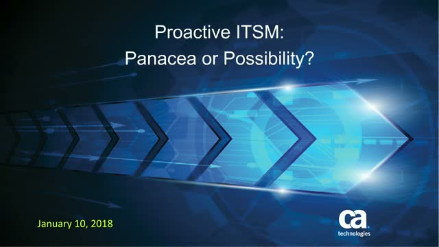 Proactive ITSM: Panacea or Possibility?