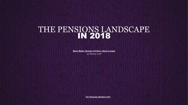 The pensions policy agenda in 2018