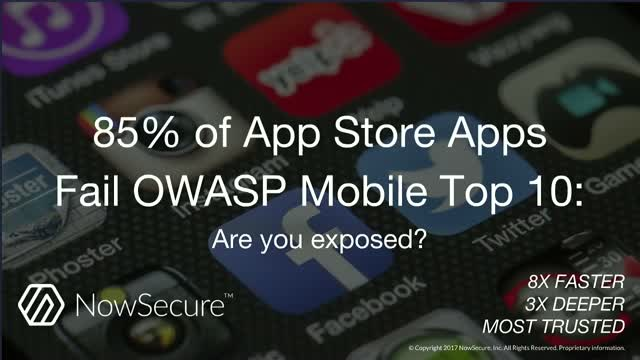 85% of App Store Apps Fail OWASP Mobile Top 10: Are you exposed?