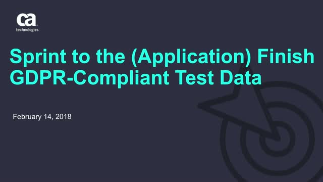 Sprint to the (Application) Finish with GDPR-Compliant Test Data
