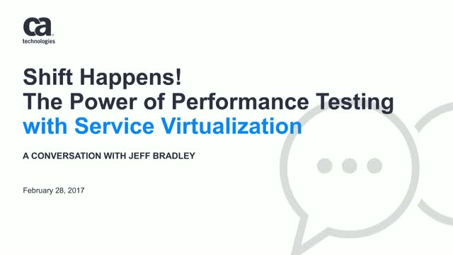Shift Happens! The power of Performance Testing