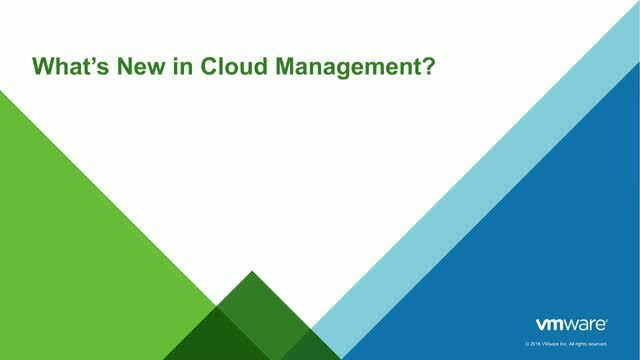 What's New in Cloud Management?
