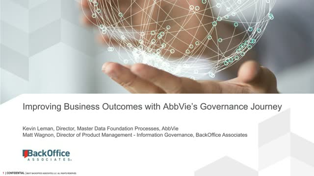 Improving Business Outcomes with AbbVie's Governance Journey
