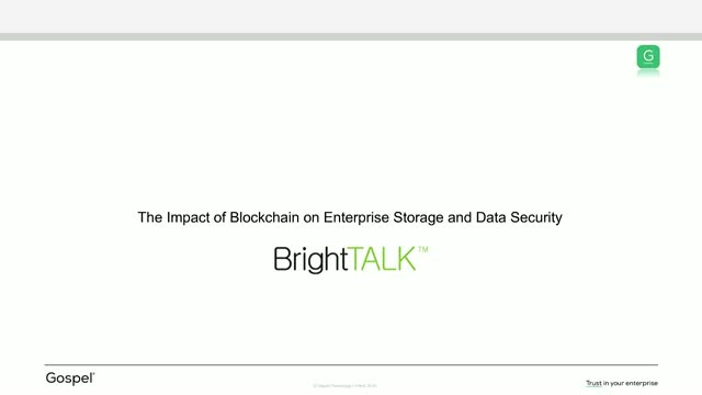 Blockchain in 2019: The Impact on Enterprise Storage and Data Security