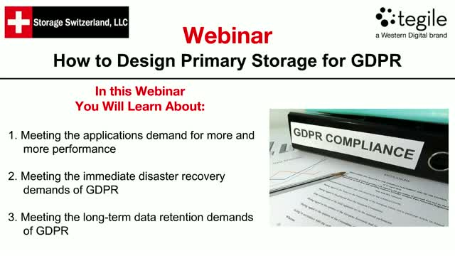 How to Design Primary Storage for GDPR
