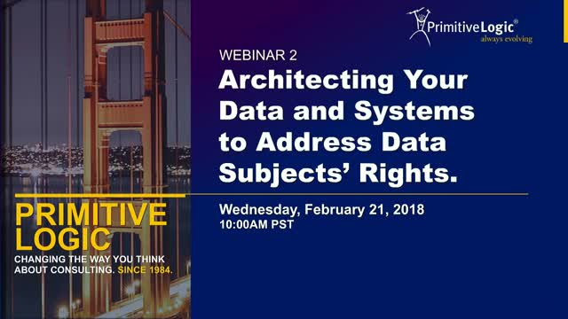 Architecting Your Data and Systems to Address Data Subjects' Rights