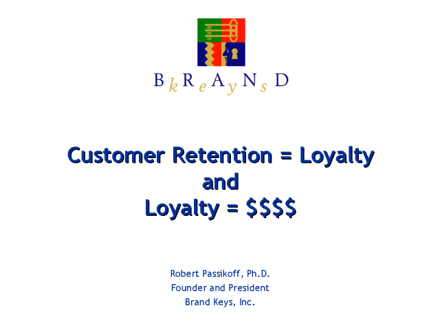 Retention = Loyalty, and Loyalty = $$$$