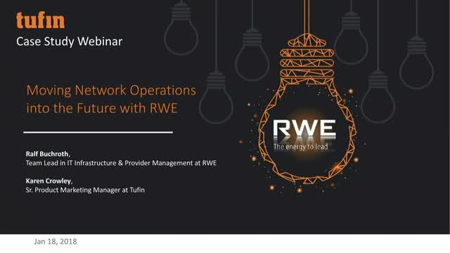 Case Study Webinar: Moving Network Operations into the Future